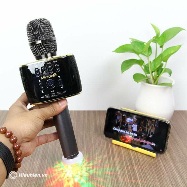 miracle m70 - micro karaoke bluetooth hàn quốc, hát cực hay - hình 05
