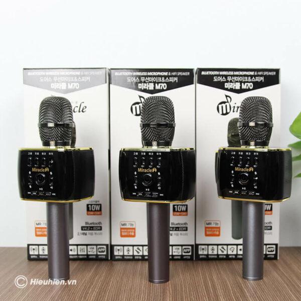 miracle m70 - micro karaoke bluetooth hàn quốc, hát cực hay - hình 08