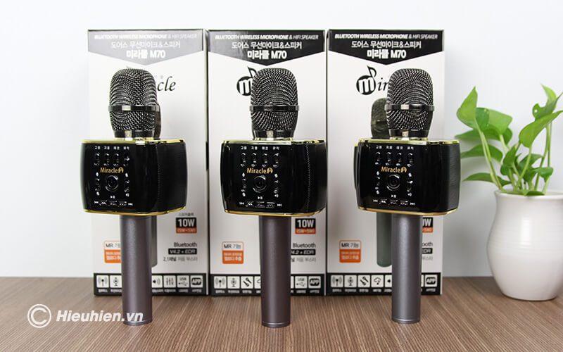 miracle m70 - micro karaoke bluetooth hàn quốc, hát cực hay - hình 10