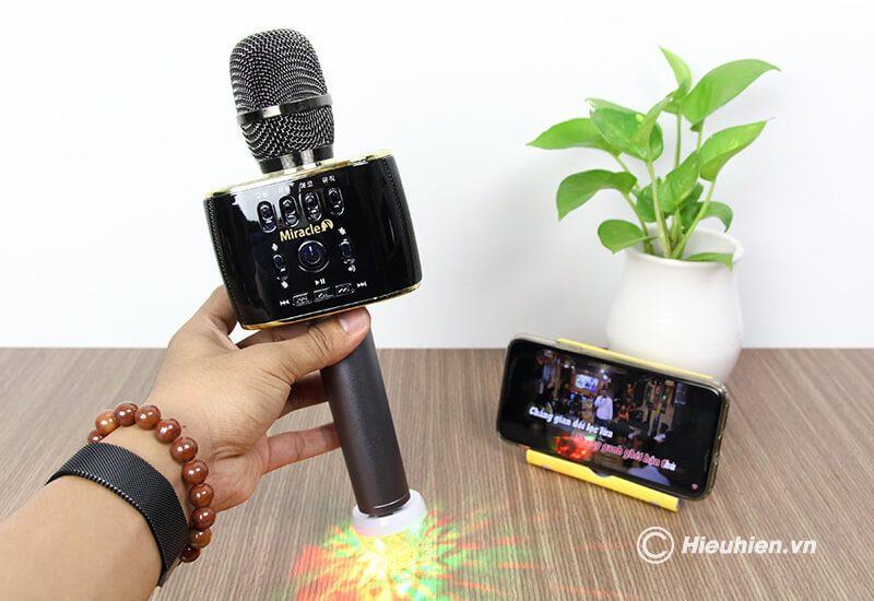 miracle m70 - micro karaoke bluetooth hàn quốc, hát cực hay - hình 13