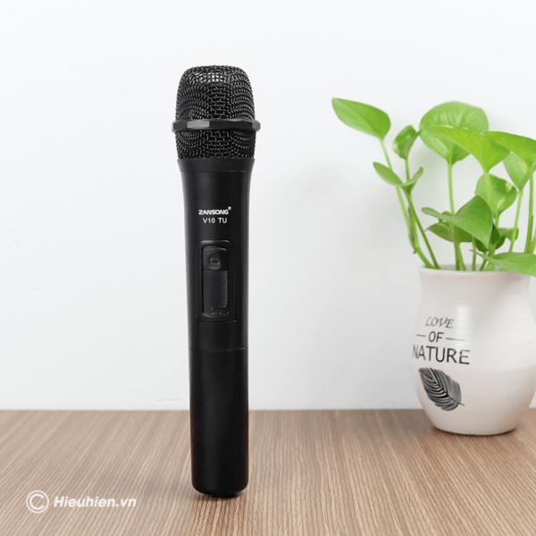 zansong v10 tu micro không dây dùng cho loa karaoke xách tay, loa kéo - hình 02