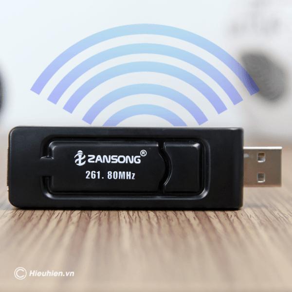 zansong v10 tu micro không dây dùng cho loa karaoke xách tay, loa kéo - hình 05