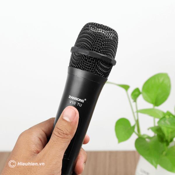zansong v10 tu micro không dây dùng cho loa karaoke xách tay, loa kéo - hình 06