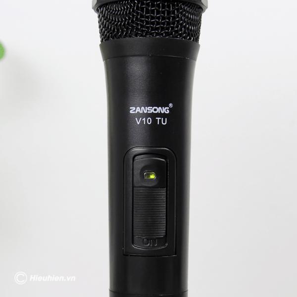 zansong v10 tu micro không dây dùng cho loa karaoke xách tay, loa kéo - hình 07
