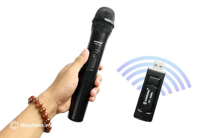 zansong v10 tu micro không dây dùng cho loa karaoke xách tay, loa kéo - hình 08