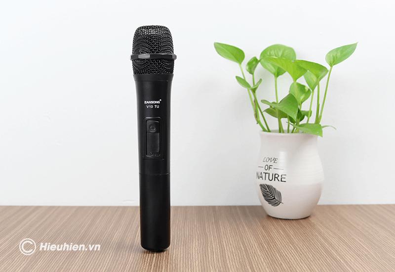 zansong v10 tu micro không dây dùng cho loa karaoke xách tay, loa kéo - hình 09