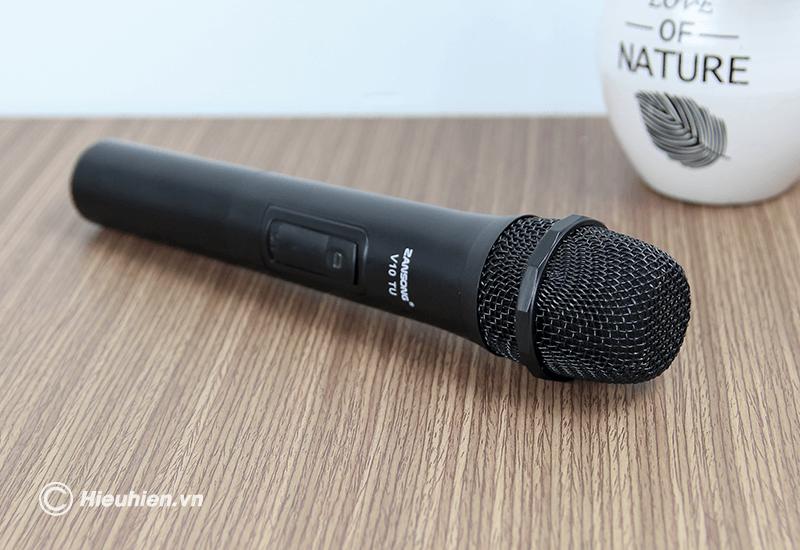 zansong v10 tu micro không dây dùng cho loa karaoke xách tay, loa kéo - hình 10