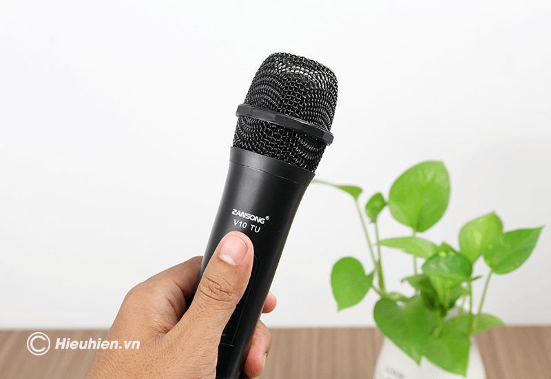 zansong v10 tu micro không dây dùng cho loa karaoke xách tay, loa kéo - hình 11
