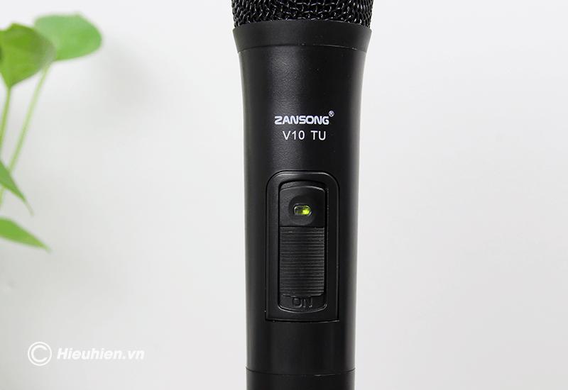 zansong v10 tu micro không dây dùng cho loa karaoke xách tay, loa kéo - hình 12