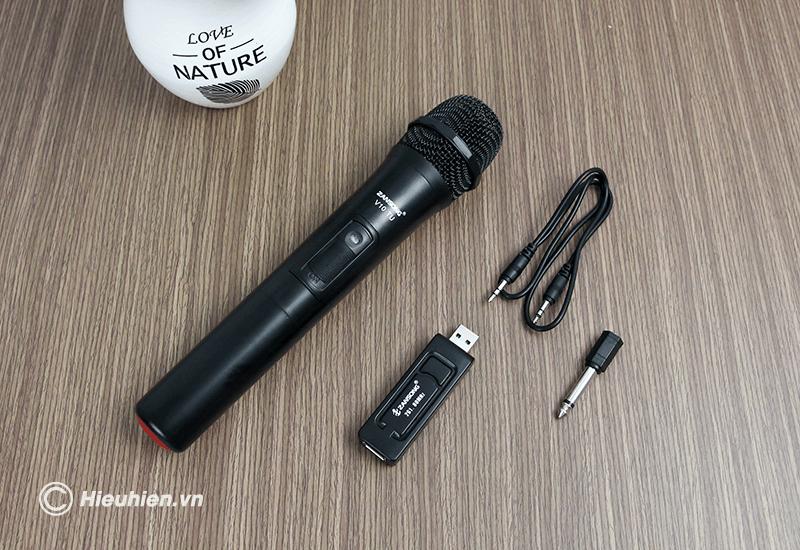 zangsong v10 tu micro không dây dùng cho loa karaoke xách tay, loa kéo - hình 15