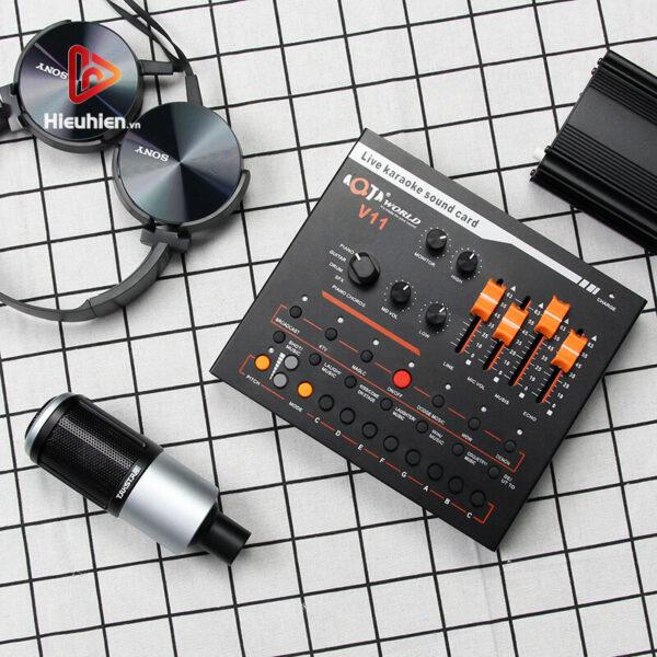 combo micro takstar pc-k320 + sound card v11 - thu âm hát, livestream - hình 03