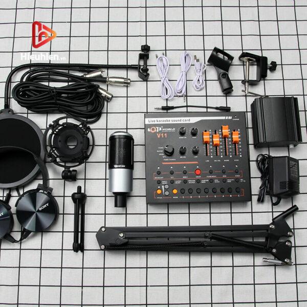combo micro takstar pc-k320 + sound card v11 - thu âm hát, livestream - hình 04