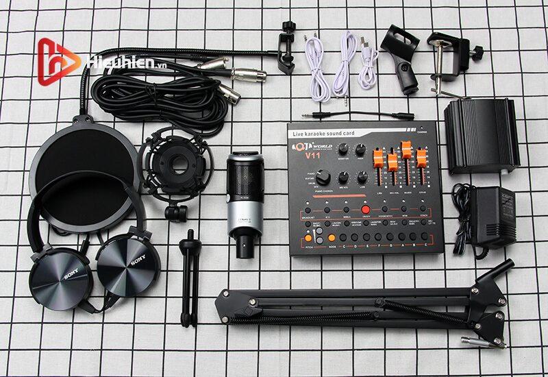 combo micro takstar pc-k320 + sound card v11 - thu âm hát, livestream - hình 06