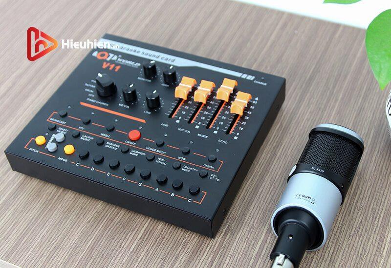 combo micro takstar pc-k320 + sound card v11 - thu âm hát, livestream - hình 07