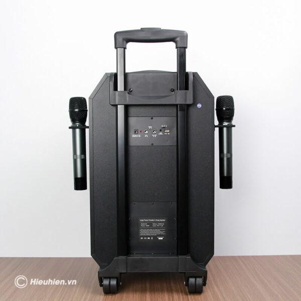 loa kéo hát karaoke di động w-king k5 công suất 160w, tặng kèm 2 micro không dây - hình 01