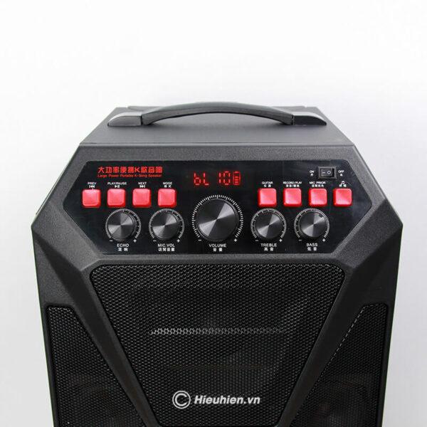 loa kéo hát karaoke di động w-king k5 công suất 160w, tặng kèm 2 micro không dây - hình 04