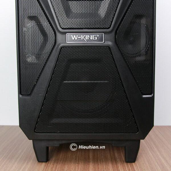 loa kéo hát karaoke di động w-king k5 công suất 160w, tặng kèm 2 micro không dây - hình 05