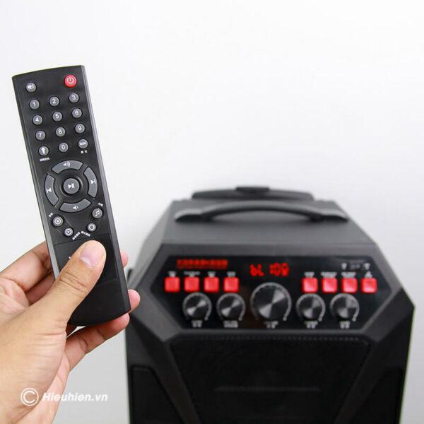 loa kéo hát karaoke di động w-king k5 công suất 160w, tặng kèm 2 micro không dây - hình 06