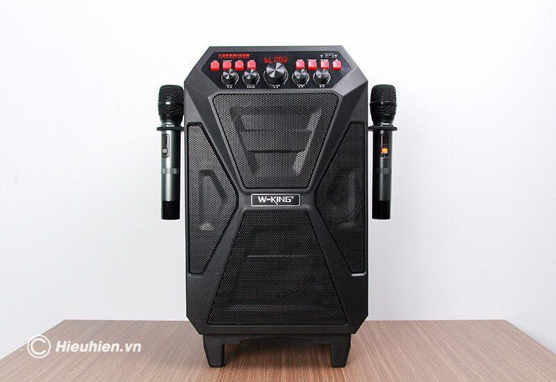 loa kéo hát karaoke di động w-king k5 công suất 160w, tặng kèm 2 micro không dây - hình 08