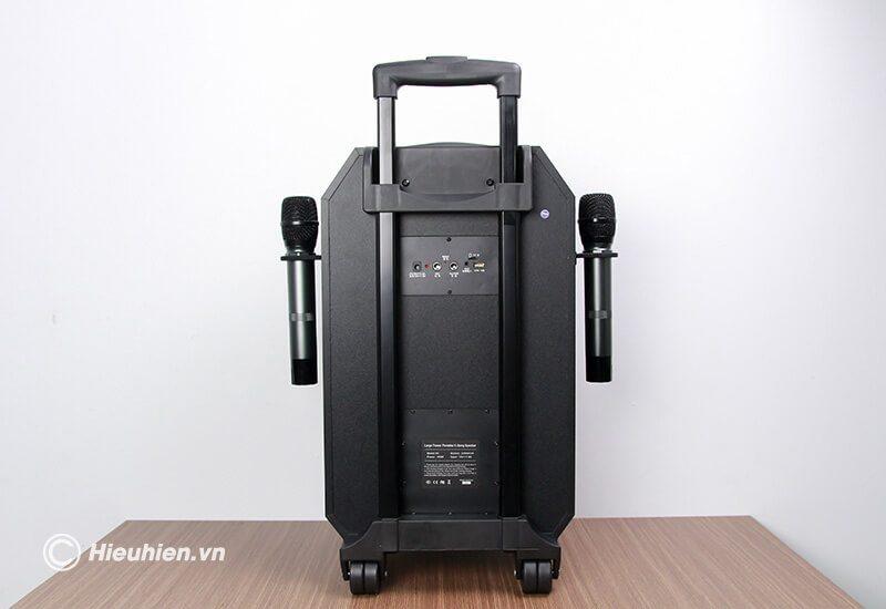 loa kéo hát karaoke di động w-king k5 công suất 160w, tặng kèm 2 micro không dây - hình 10