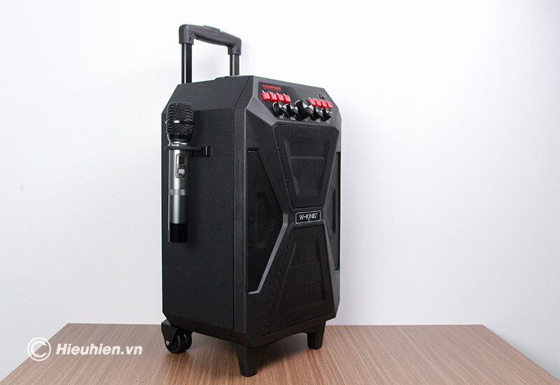 loa kéo hát karaoke di động w-king k5 công suất 160w, tặng kèm 2 micro không dây - hình 11