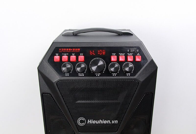 loa kéo hát karaoke di động w-king k5 công suất 160w, tặng kèm 2 micro không dây - hình 12