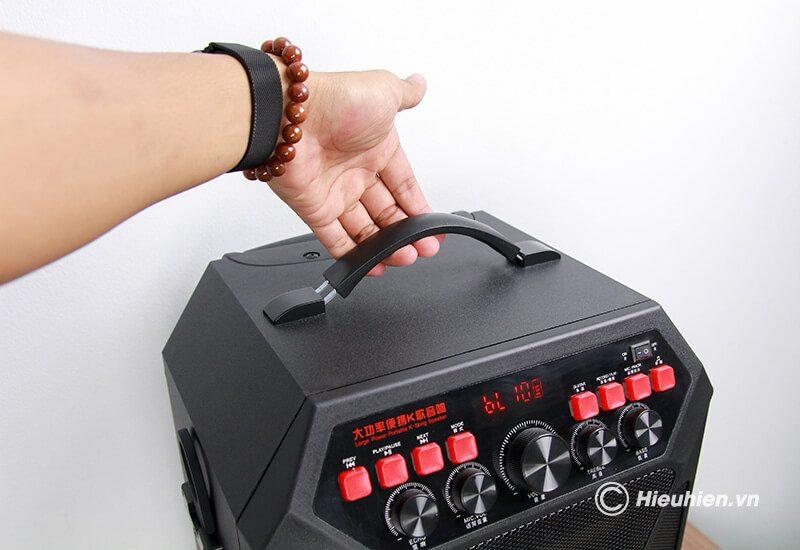 loa kéo hát karaoke di động w-king k5 công suất 160w, tặng kèm 2 micro không dây - hình 13