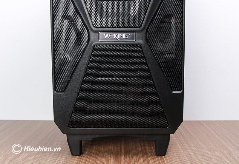 loa kéo hát karaoke di động w-king k5 công suất 160w, tặng kèm 2 micro không dây - hình 14