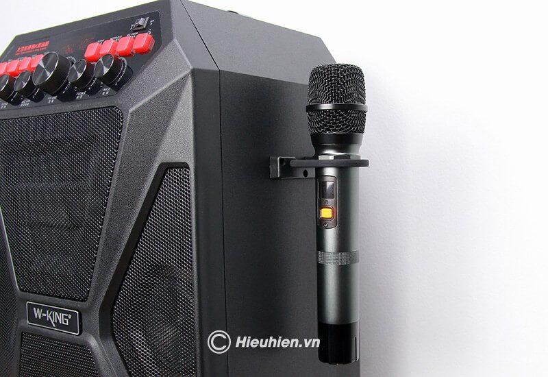 loa kéo hát karaoke di động w-king k5 công suất 160w, tặng kèm 2 micro không dây - hình 15