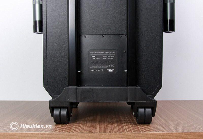 loa kéo hát karaoke di động w-king k5 công suất 160w, tặng kèm 2 micro không dây - hình 16