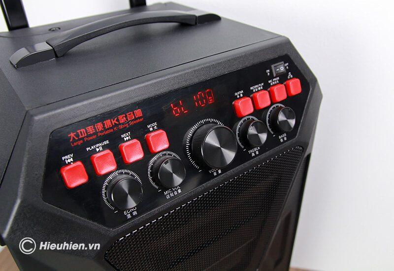 loa kéo hát karaoke di động w-king k5 công suất 160w, tặng kèm 2 micro không dây - hình 18