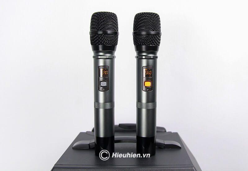 loa kéo hát karaoke di động w-king k5 công suất 160w, tặng kèm 2 micro không dây - hình 19