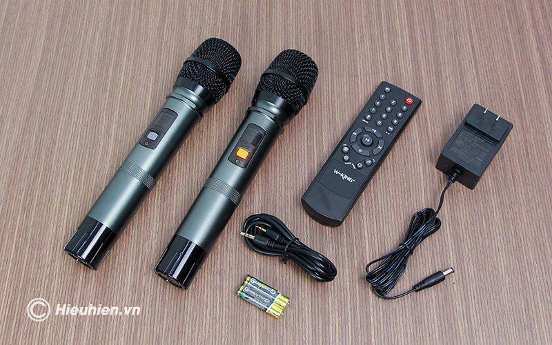 loa kéo hát karaoke di động w-king k5 công suất 160w, tặng kèm 2 micro không dây - hình 22