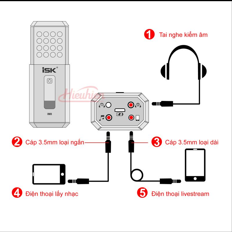 hướng dẫn kết nối micro thu âm isk im8 không cần soundcard