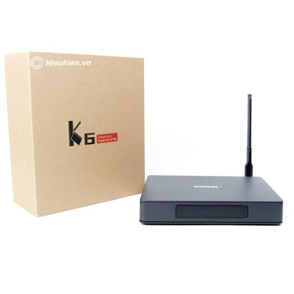 android tv box mecool k6 tích hợp đầu thu truyền hình dvb-s2-t2-c - hình 02