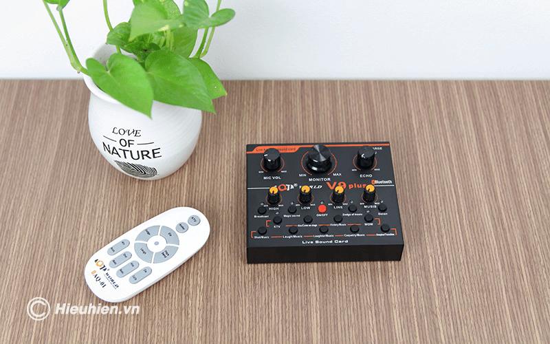 sound card aqta v9 plus - card âm thanh chỉnh âm khi thu âm bài hát, phát livestream, hát karaoke - hình 10