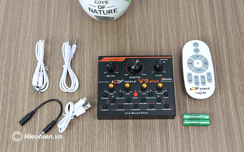 sound card aqta v9 plus - card âm thanh chỉnh âm khi thu âm bài hát, phát livestream, hát karaoke - hình 13