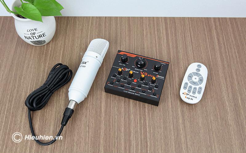 sound card aqta v9 plus - card âm thanh chỉnh âm khi thu âm bài hát, phát livestream, hát karaoke - hình 14