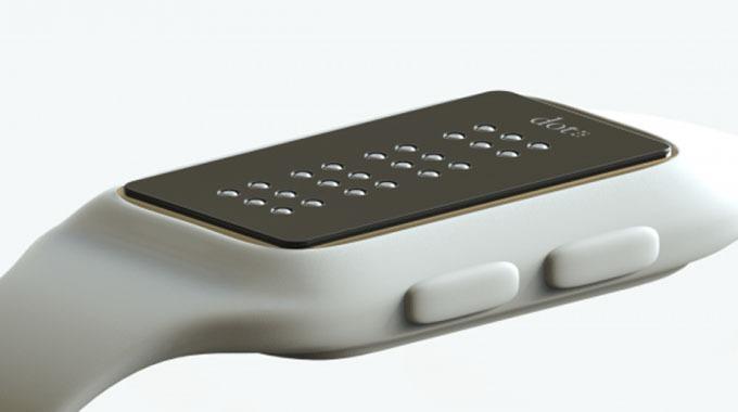 dot braille smartwatch dong ho thong minh danh cho nguoi khiem thi