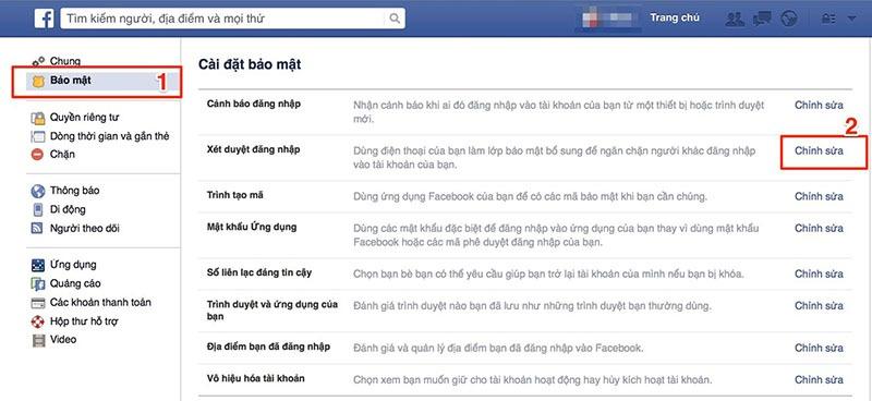bao mat hai lop facebook, cach bao ve tai khoan facebook