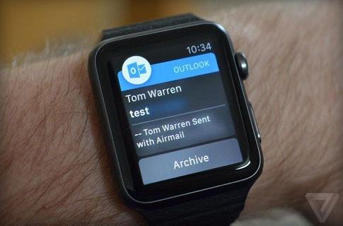 Microsoft phát hành ứng dụng Outlook trên Apple Watch