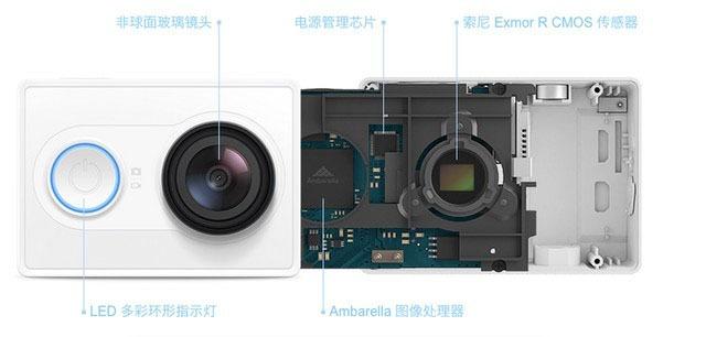 Camera the thao YiCamera cua Xiaomi gia chi bang nua GoPro Hero 03