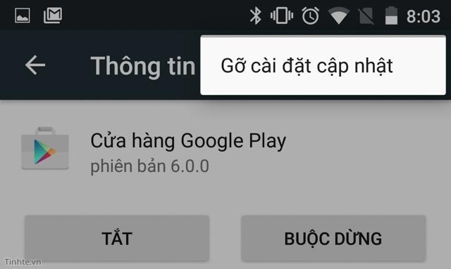 4 cach don gian sua loi google play store: go update cua play store va cai lai