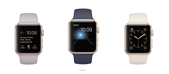 apple watch sport co them ban mau vang va vang hong