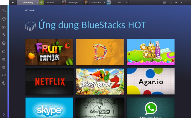 BlueStacks 2: chơi game và chạy ứng dụng Android trên PC theo dạng tab