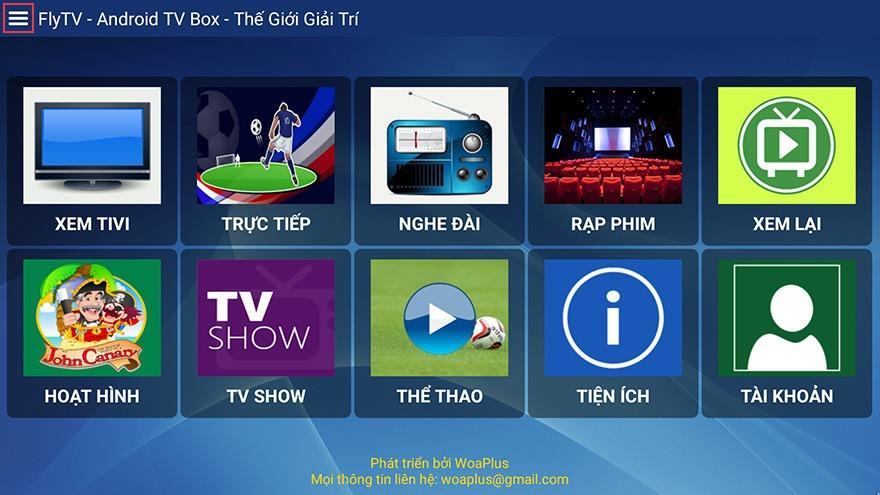 Cách sử dụng FlyTV Remote điều khiển ứng dụng FlyTV Android TV Box