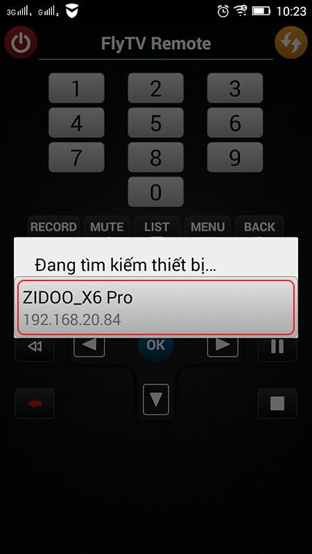 ung dung flytv remote - tim kiem thiet bi chay flytv android tv box zidoo x6 pro