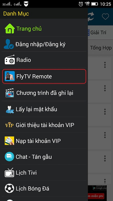 su dung flytv remote duoc tich hop tren flytv the gioi giai tri phien ban cho dien thoai