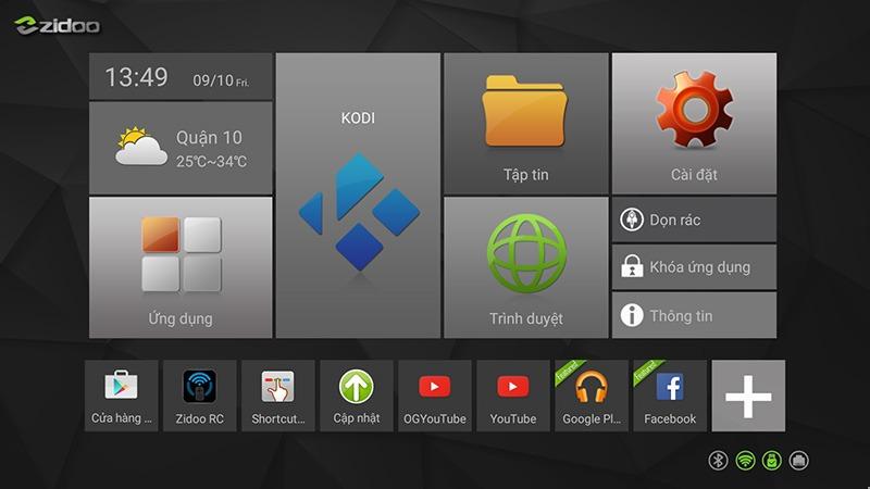 cach xem video youtube 1080p va youtube 1440p tren android tv box zidoo x6 pro