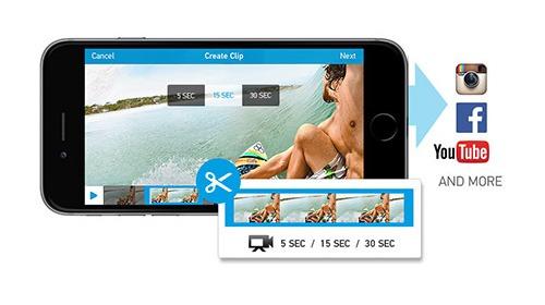 Cắt ghép và chia sẻ video trực tiếp trên camera thể thao GoPro HERO